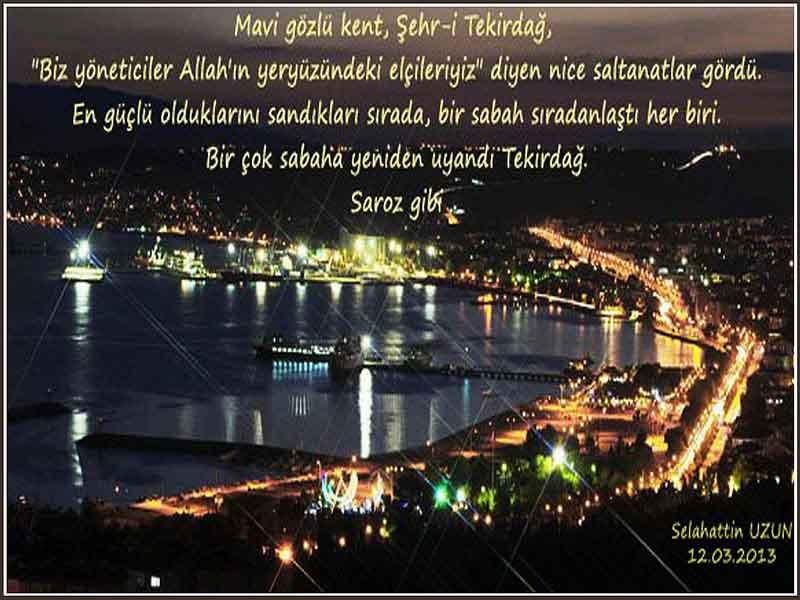Mavi Gözlü Kent Şehr-i Tekirdağ Resim - Selahattin Uzun